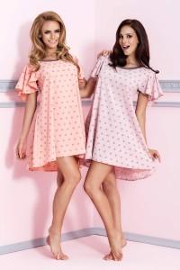 Pastelowa moda nocna, czyli kolekcja firmy Pigeon. Na zdjęciu koszulki P-496 i 495.
