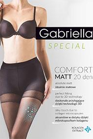 1746820c41ec75 Bielizna Gabriella - Rajstopy Comfort Matt Code 479, kolor czarny